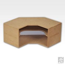 Module d'étagères en angle
