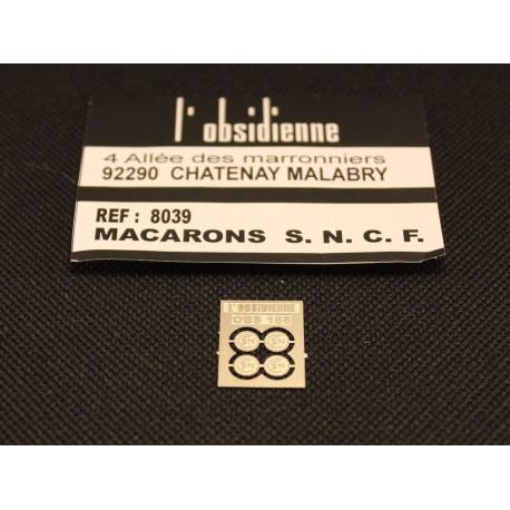 Macarons SNCF lettre type bâton - 4 pièces