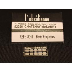 Porte étiquettes 10 pièces