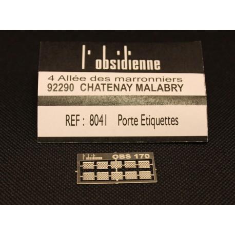 Porte étiquettes 10 pièces - MAKETIS