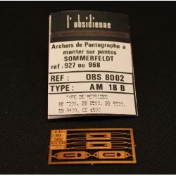 Palettes de pantographe AM 18 B - MAKETIS