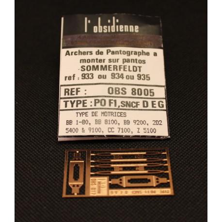 Palettes de pantographe PO F1 D E G