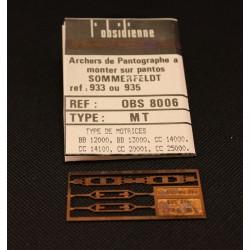 Palettes de pantographe MT - MAKETIS