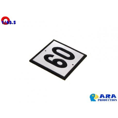Pancarte 60 pour TIV [O] - MAKETIS