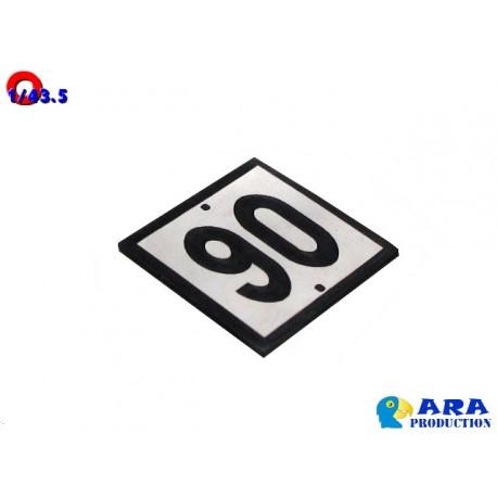 Pancarte 90 pour TIV [O] - MAKETIS