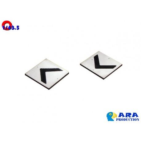 2 plaques CHEVRON [O]