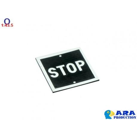 Pancarte STOP carrée