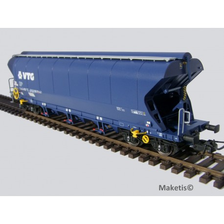 Wagon céréalier Tagnpps 102m3 VTG, bleu EP VI, ref 504621 - MAKETIS