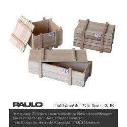 Caisse en bois avec couvercle A