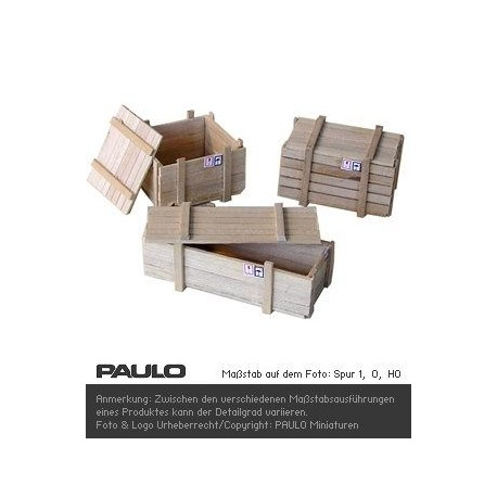 caisses bois et couvercles a paulo l 39 chelle ho 1 87. Black Bedroom Furniture Sets. Home Design Ideas