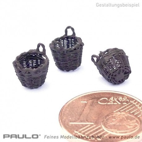 1 Panier de charbon en fil tressé