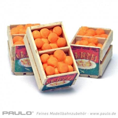 Cageot d'oranges ouvert