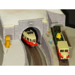 3 Entrées de Tunnel (parmi 10 modèles) en pierres hexagonales