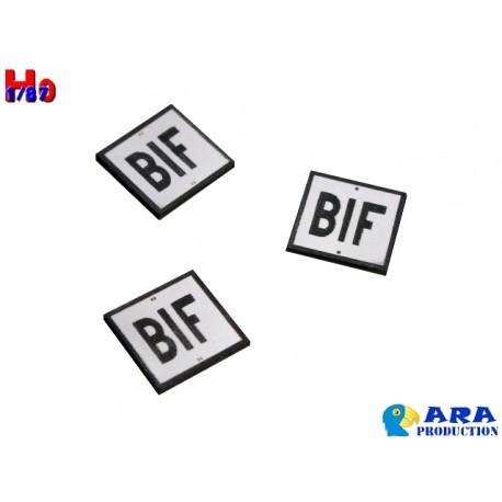 SNCF 3 plaques BIF - MAKETIS