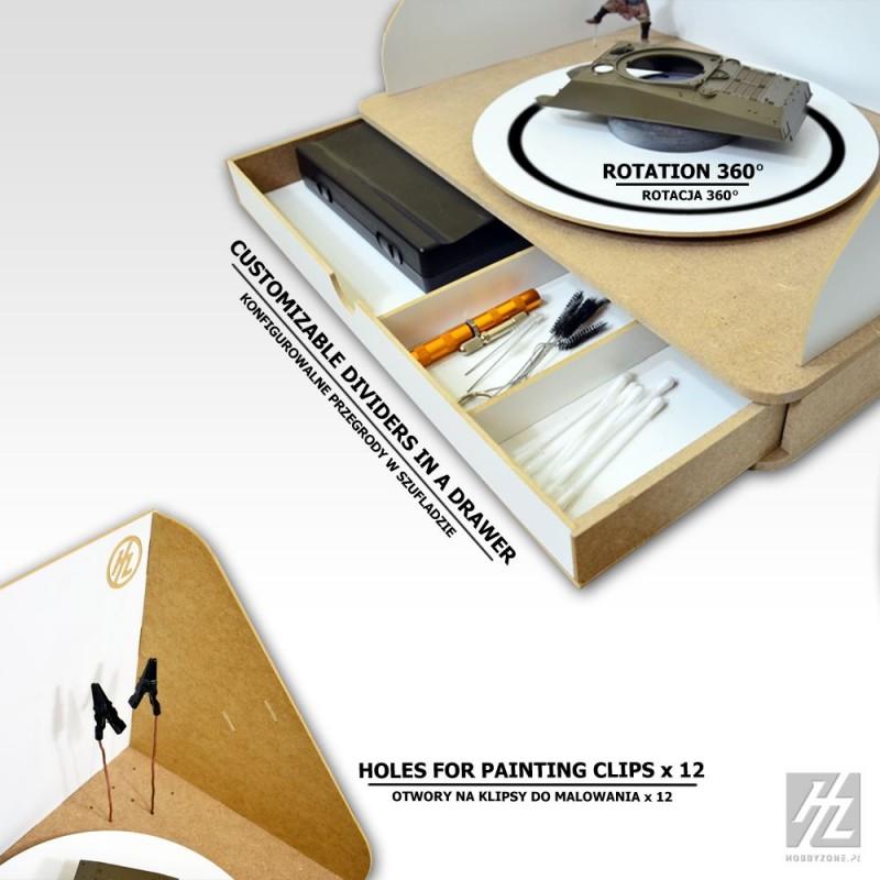 station de peinture pour a rographe hobbyzone pour le mod lisme. Black Bedroom Furniture Sets. Home Design Ideas
