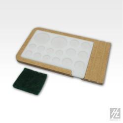 Palette de peinture en acrylique