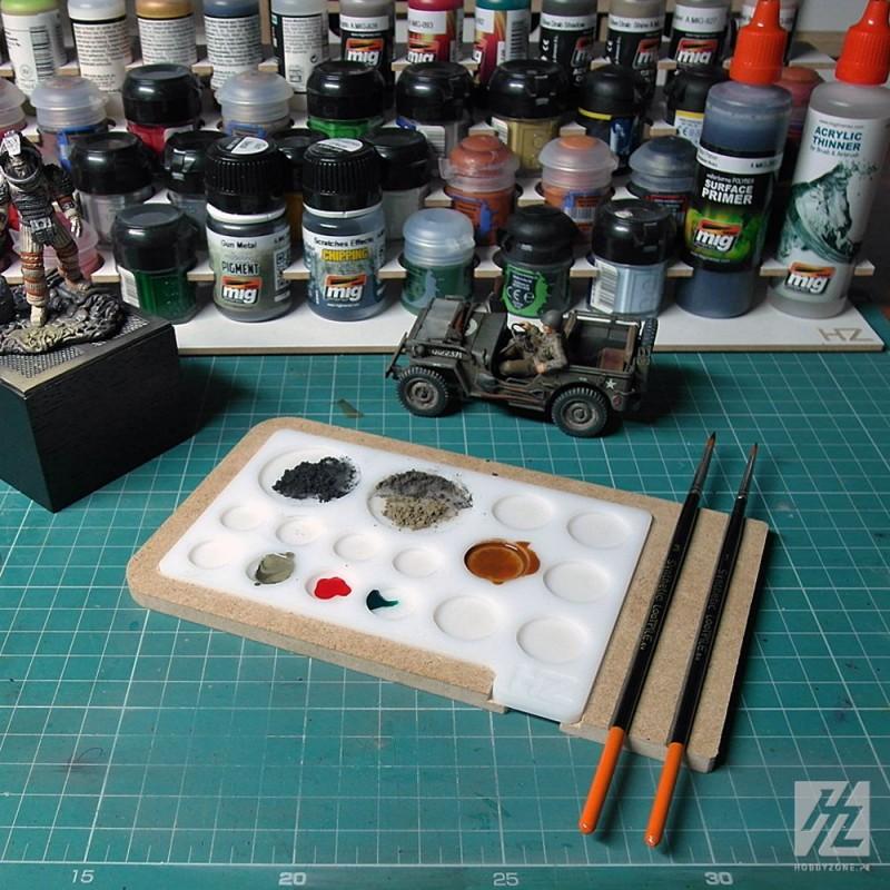 palette de peinture en acrylique hobbyzone pour le. Black Bedroom Furniture Sets. Home Design Ideas
