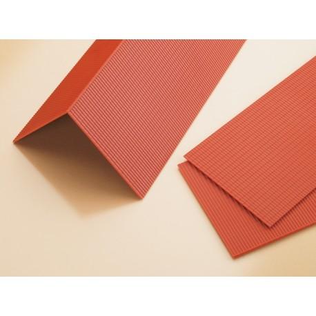 Plaques de toiture en tuiles mécaniques HO Auhagen 41611 - Maketis