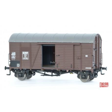 Wagon couvert ÖBB Oppeln Gmds Europ HO Exact-Train. Epoque III EX20107 - MAKETIS