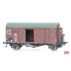 Rame de 3 wagons couverts DR Zone Oppeln HO Exact-Train. Epoque III