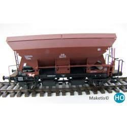 Wagon trémie Otmm 52 avec freins hydauliques,DB, HO Exact-Train. Epoque III EX20052 - MAKETIS