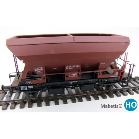 Wagon trémie Otmm 52 avec freins hydauliques,DB, HO Exact-Train. Epoque III EX20052 - MAKETIS EX20060 - MAKETIS