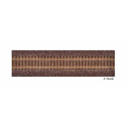 Track bedding Advanced-Track dark (brown), length 228 mm H0 Tillig 86500