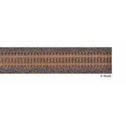 Track bedding Advanced-Track dark (brown), length 950 mm for flexi-track wooden sleepers) H0 Tillig 86509