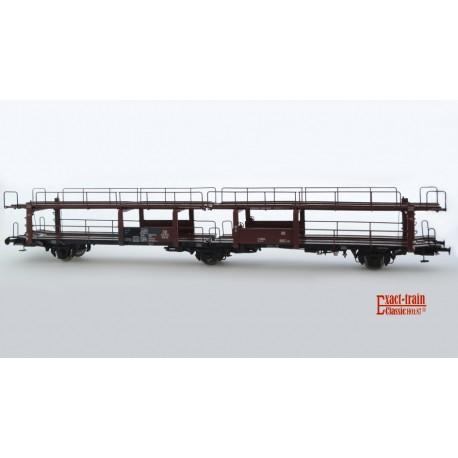 Wagon porte-autos DB Offs 55 HO Exact-train. Epoque III tableau ABC (631 710)