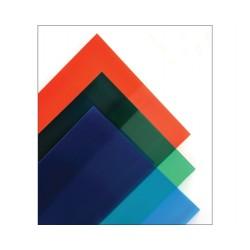Feuille PVC transparente colorée autocollante 194x320 mm Maquett
