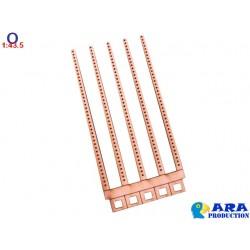 5 poteaux de type béton pour pancartes de bord de voie - ARA Echelle O - MAKETIS