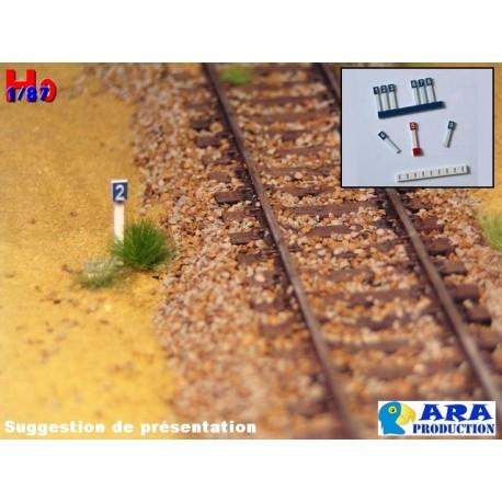 SNCF 9 plaques hectométriques [HO] - ARA - Maketis