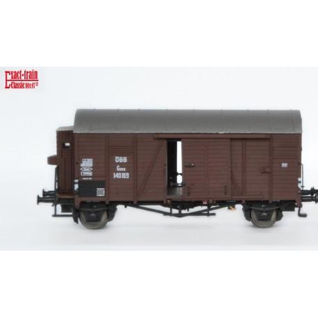 Wagon couvert ÖBB Oppeln Gmhs avec guérite HO Exact-Train. Epoque III EX20097A - MAKETIS