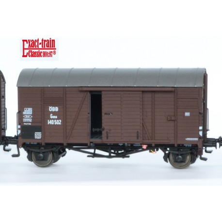 Wagon couvert ÖBB Oppeln Gms HO Exact-Train. Epoque III EX20096B - MAKETIS