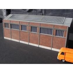 Usine briques creuses faible profondeur avec portes HO