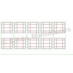 Fenêtres de bureaux carrées 26x28mm (x10) HO