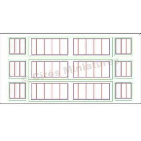 Fenêtres Remise / Atelier Grands carreaux HO