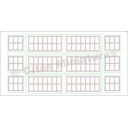 Fenêtres Remise / Atelier Petits carreaux HO