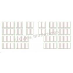 Fenêtres Usine (12+8) rectangulaires et carrées HO