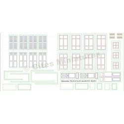 Portes, fenêtres, volets bois maison de ville (x8) HO