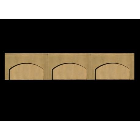 Murs de soutènement Echelle HO (3 arches)