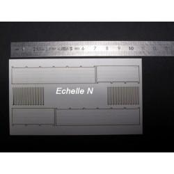 Muret béton modèle basique longueur 40cm N