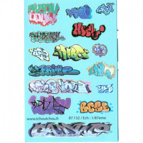 Tags et Graffitis divers HO Tchoutchou 87132 MAKETIS