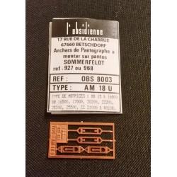 Palettes de pantographe AM 18 U