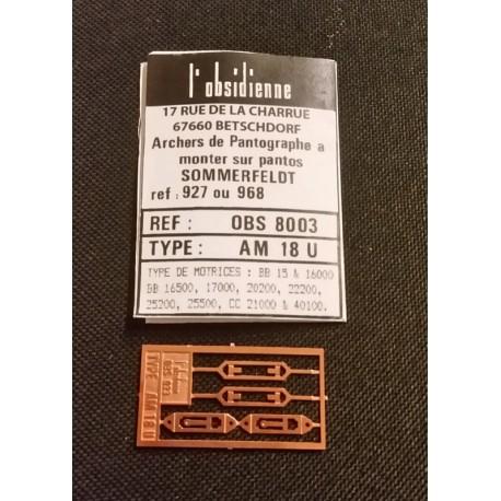 Palettes de pantographe AM 18 U Obsidienne 8003 - MAKETIS