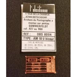Palettes de pantographe AM 18 bicour Obsidienne 8004 - MAKETIS