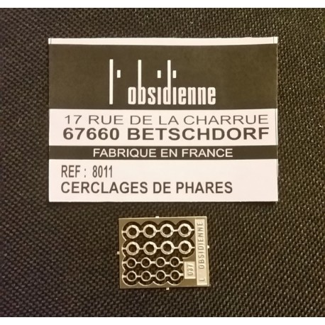 Cerclages de phares diam 3,6mm Obsidienne 8011 - MAKETIS