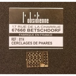 Cerclages de phares diam 3,3mm Osidienne 8114 - MAKETIS