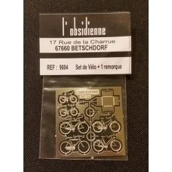Plaque de 6 vélos + une remorque Obsidienne 9004 - MAKETIS