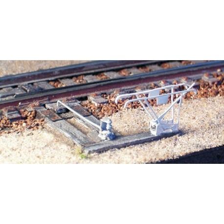 Leviers d'aiguille Saxby 6 leviers avec support et platine